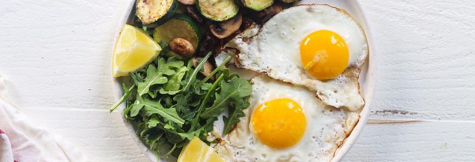 Courgette, Mushroom & Egg Breakfast