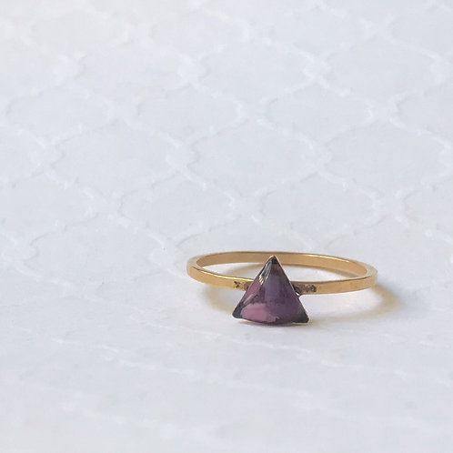SZ 7 Purple Gold Triangle Mindfully Mined Micro Plastic Stacking R