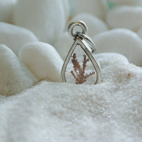 Tide Pool Pendant - Silver Teardrop Mini TPPTGT150