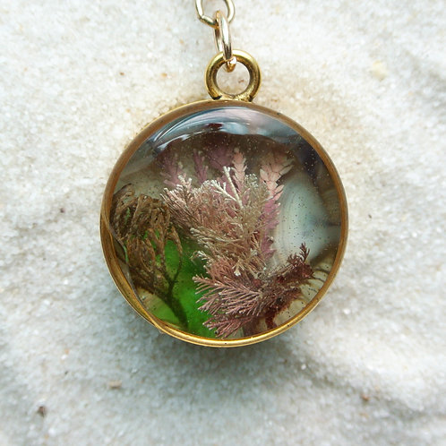 Tide Pool Pendant in Round, Deep, Gold #29
