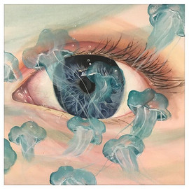 eye painting by Peoria artist Jessica McGhee Hey Lola loveheylola