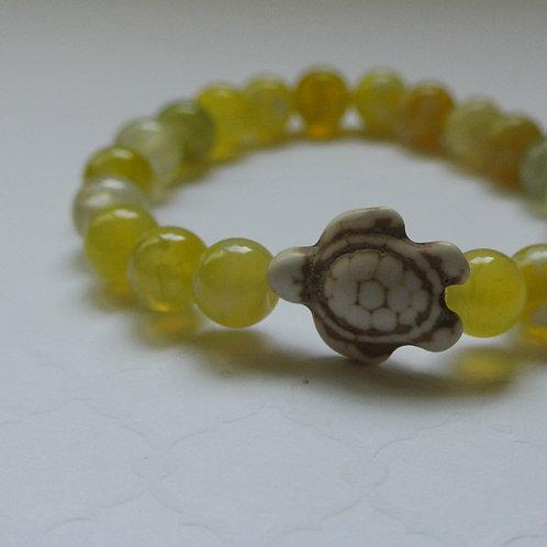Citrus Stone Turtle Bracelet