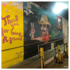 Burt Reynolds mural Peoria Illinois Saddle Up Nightclub Pop Culture Mural in Peoria Illinois painted by Jessica McGhee Hey Lola
