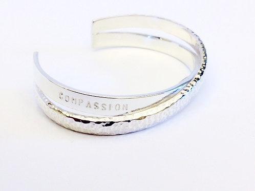 Compassion & Gratitude Europa Cuff - Sterling Silver