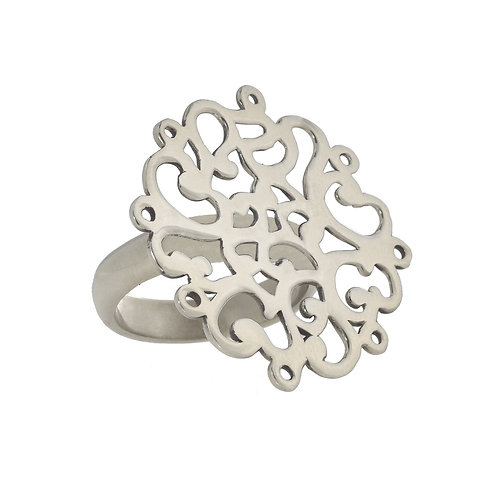 Coralie Blooming Silver Ring