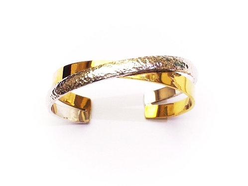 Europa Cuff - Silver & Gold