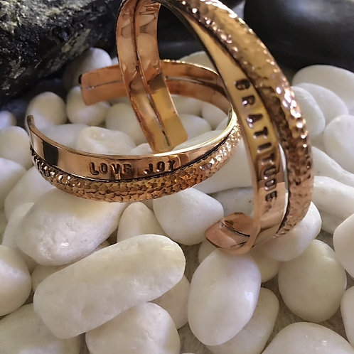 Love Joy & Gratitude Europa Cuff - Copper