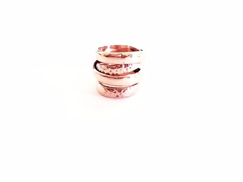 Europa Double Eclipse Ring - Rose Gold Vermeil