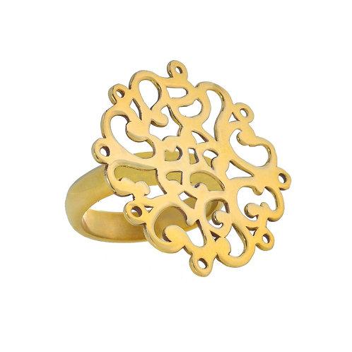 Coralie Blooming Gold Vermeil Ring
