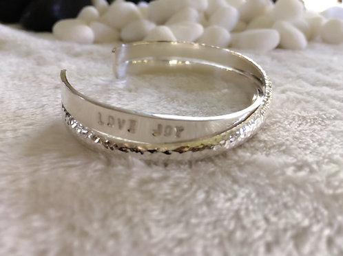 Love Joy & Gratitude Europa Cuff - Sterling Silver