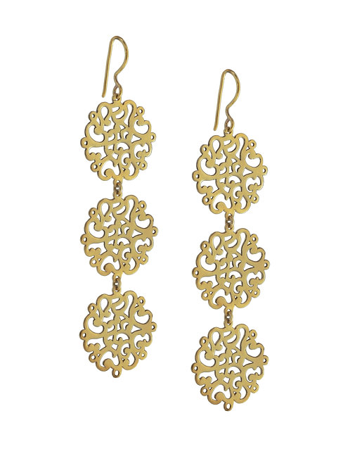 Coralie Flowers Gold Vermeil Earrings