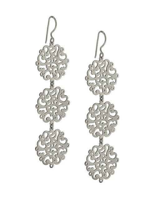 Coralie Flowers Silver Earrings