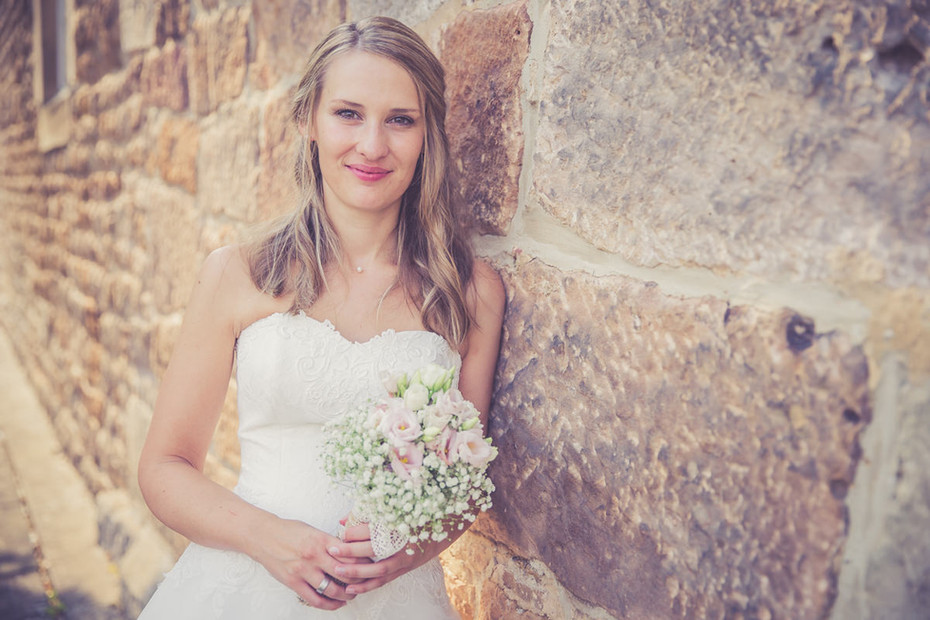 Brautkleid | Brautstrauß