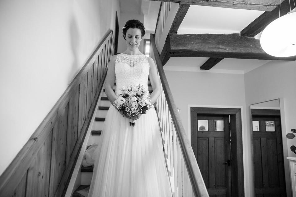 Braut | Fachwerkaus | Brautkleid