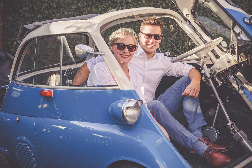 Hochzeitsauto | Isetta | Braupaar