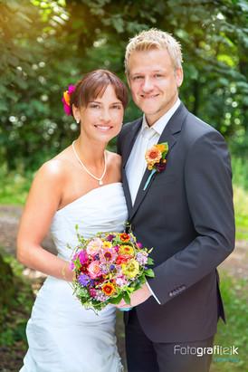 Hochzeit   Brautpaar   Brautstrauss