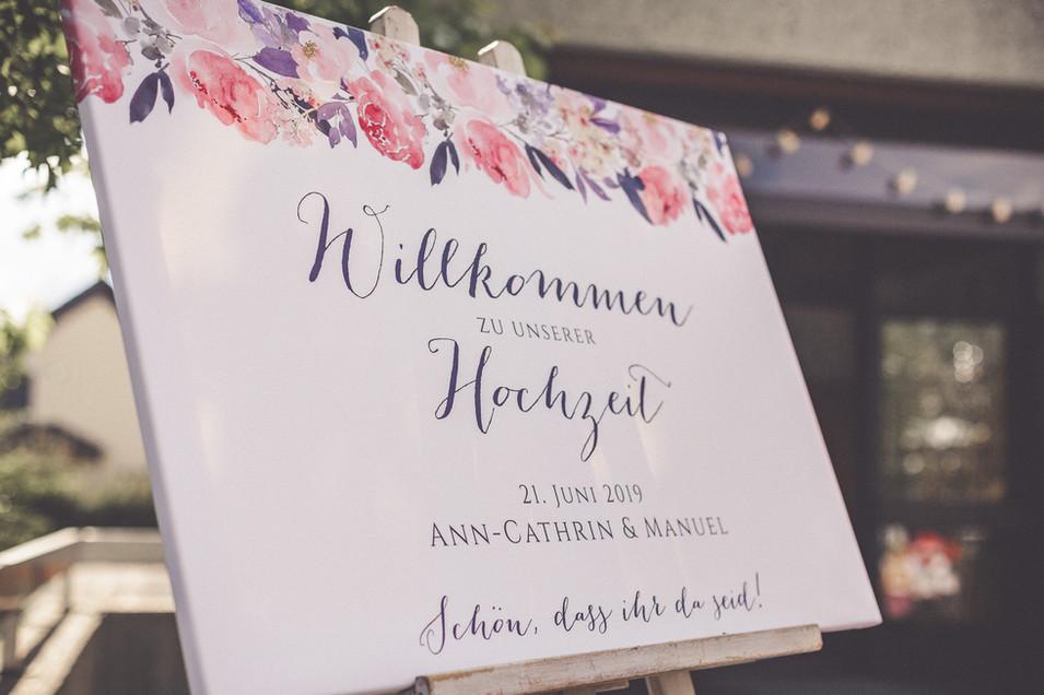 Willkommenschild | Hochzeit | Baunatal