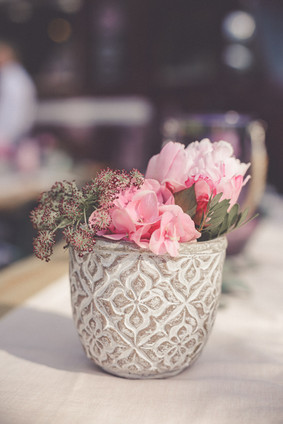 Tischdeko   Hochzeit   Blumentopf