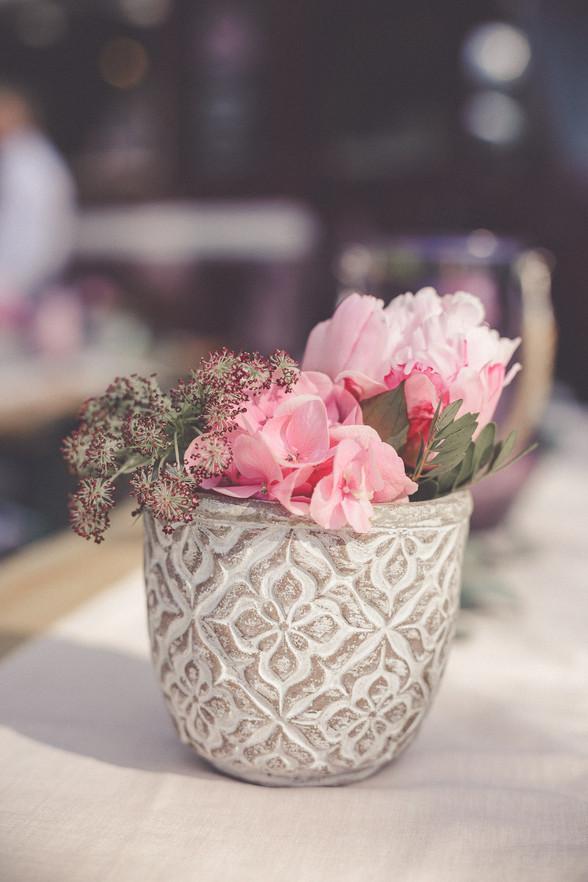 Tischdeko | Hochzeit | Blumentopf