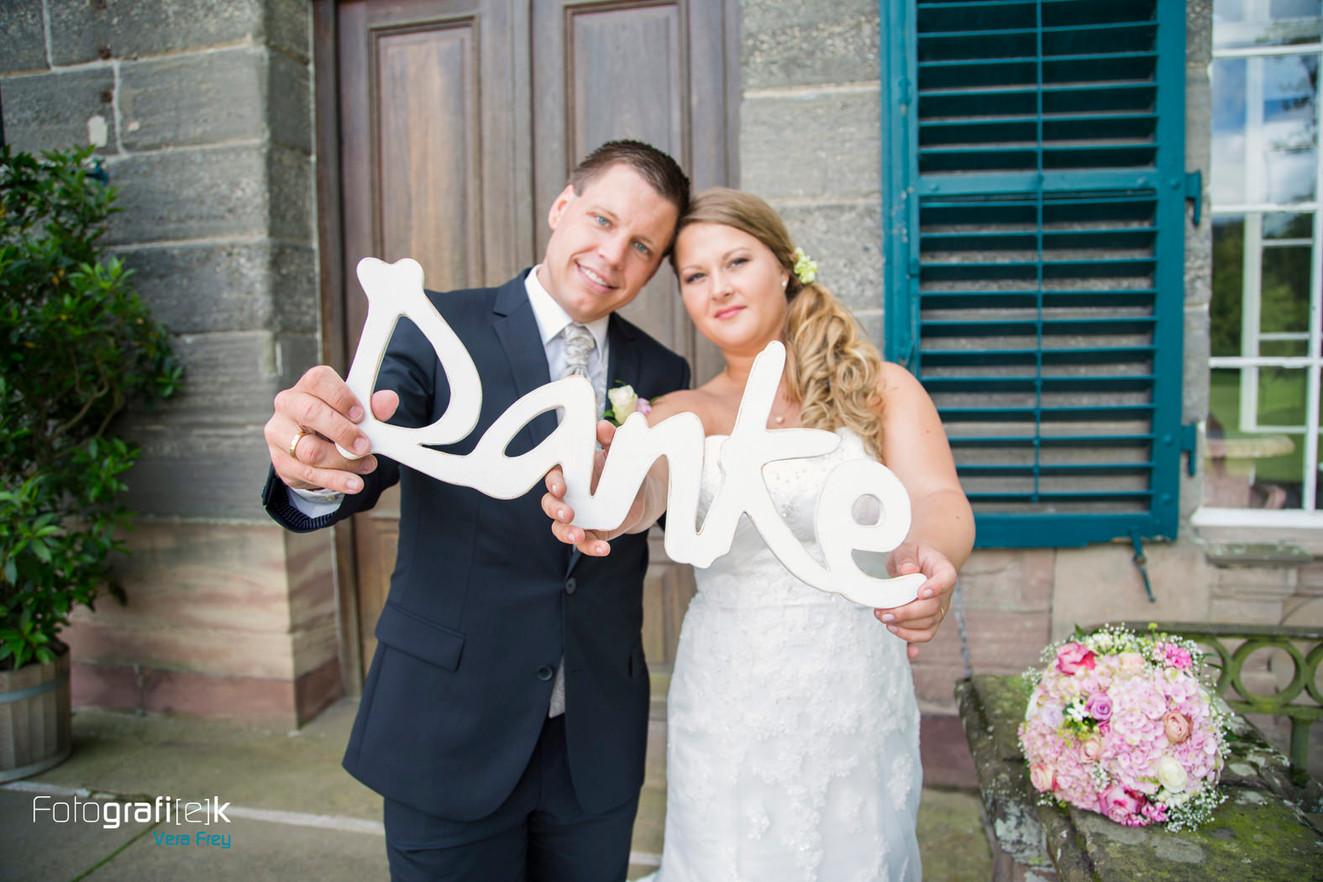 Danke | Dankagungskarte | Brautpaar