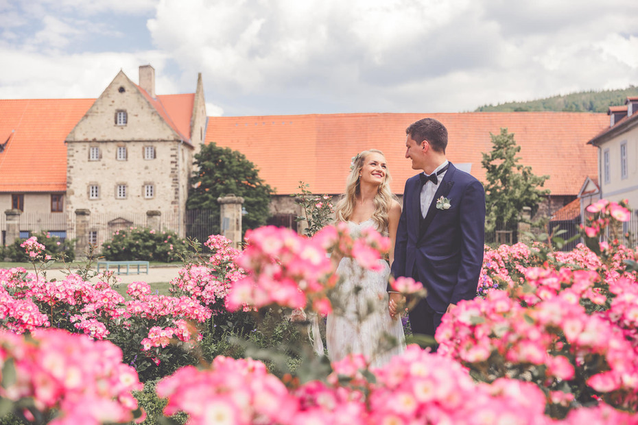 Kolster Haydau   Rosen   Brautpaar
