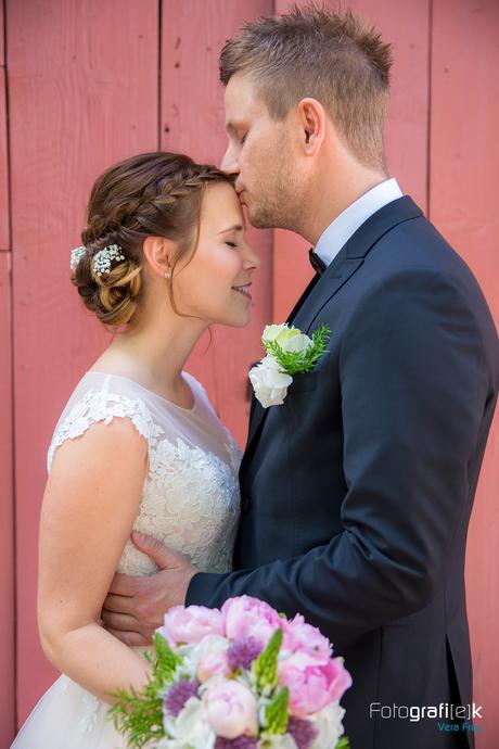 Brautpaar | Shooting | Brautstrauß | Kuss