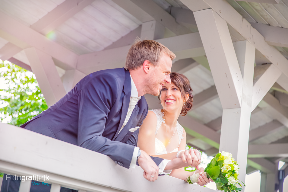 Brautpaarshooting | Glücklich | Brautstrauss