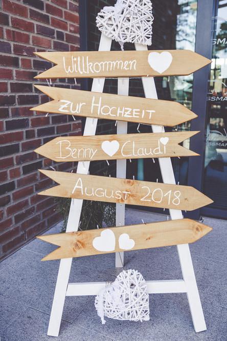 Wegweiser   Hochzeit   Gut Wissmannshof