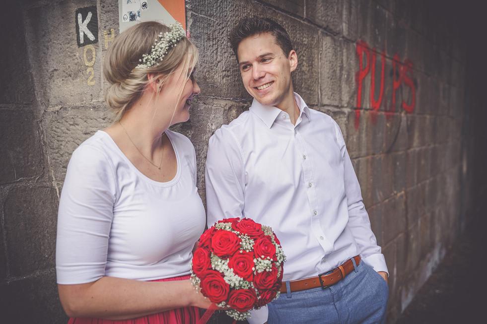 Brautpaarshooting | Unterführung | Hochzeit