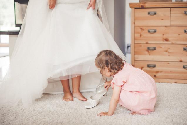 Brautschuhe | Brautkleid | Kind