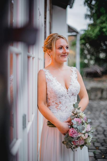 Braut-Braukleid-Vintage-Rückenfrei-Schle
