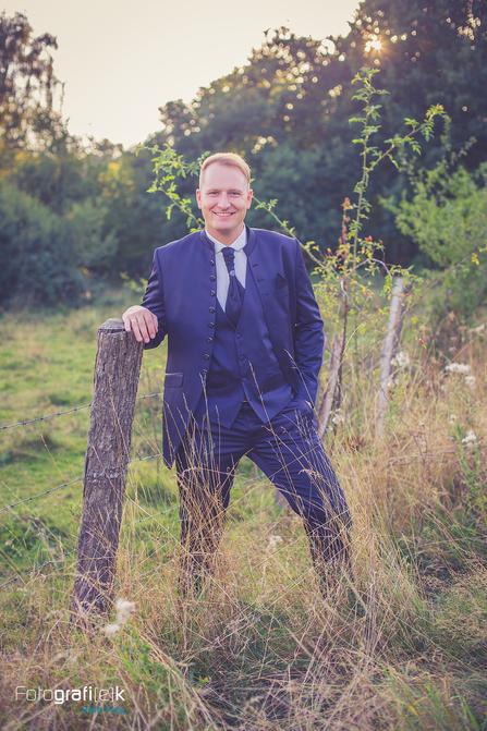 Bräutigam | Holzzaun | Natur