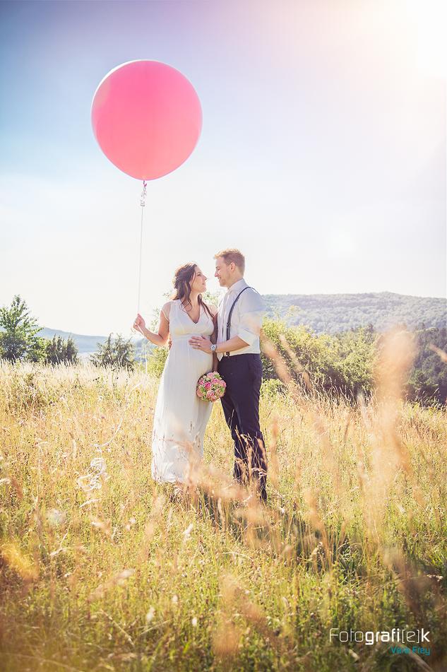 XXL Luftballon | Brautpaar | Brautstrauss