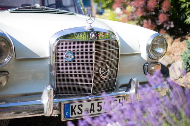 Brautauto   Mercedes   Sommerhochzeit