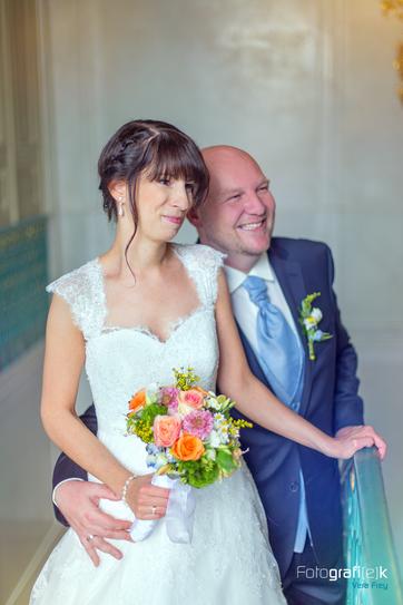 Brautpaar | Treppengeländer