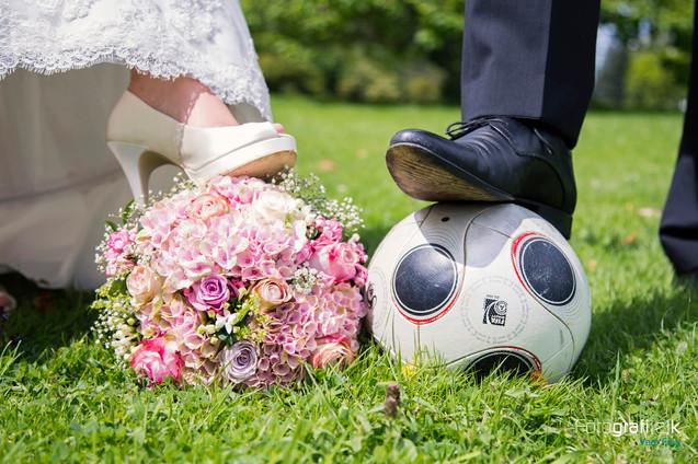 Brautstrauss | Fussball | Brautpaar | Hochzeit