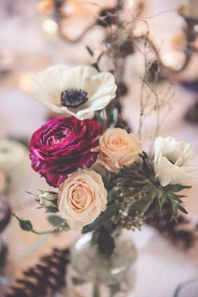 Blumen | Tischdeko | Winterhochzeit