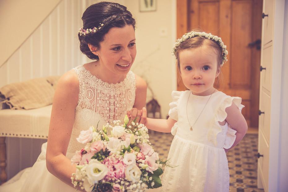 Braut   Tochter   Brautstrauß