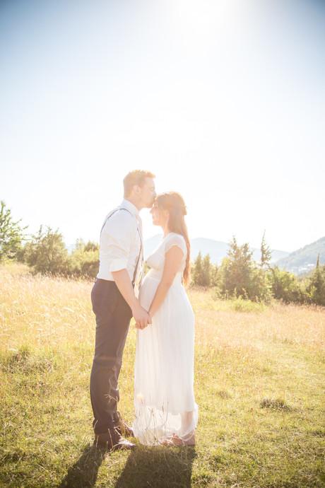 Kuss | Stirn | Brautpaarshooting