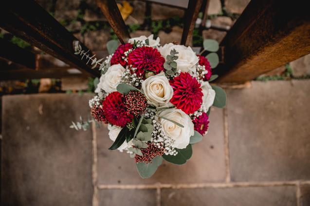 Hochzeitsfotos-Brautstrauß-Herbst-Detail