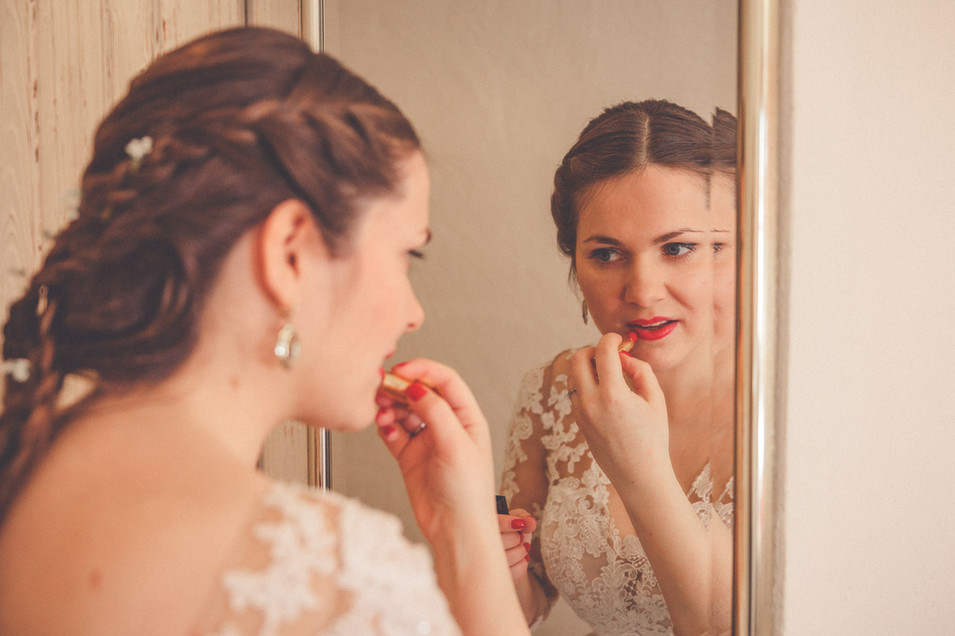 Lippenstift | Braut | Spiegel
