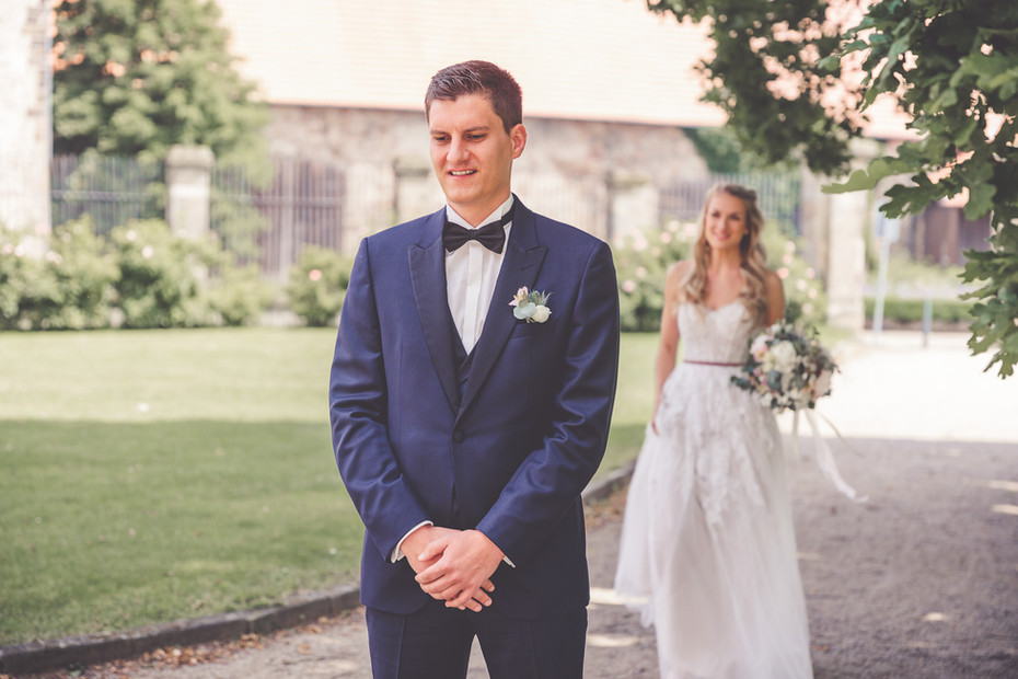 First-Look   Brautpaar   Hochzeit