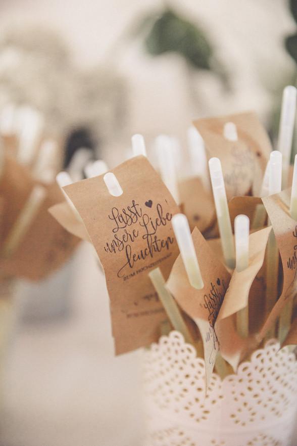 Knicklichter   Hochzeit   Detailliebe