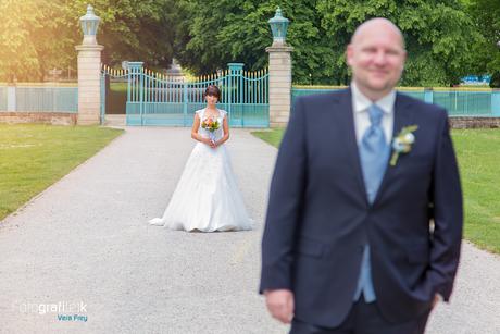 First Look | Brautpaar | Schloss Wihlelmsthal