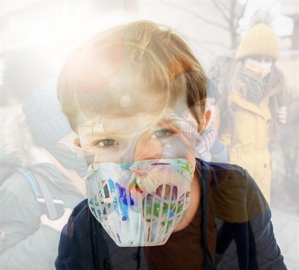 Mehrweg-Schutzmaske als Spielzeug tarnen