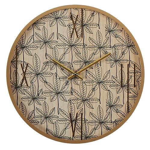 """Horloge murale """"Feuilles"""""""