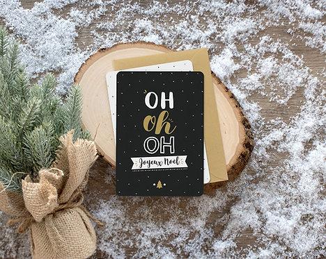 """Carte à message """"Joyeux Noël"""""""