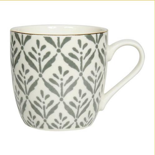 """Tasse à café """"Feuille"""" grise"""