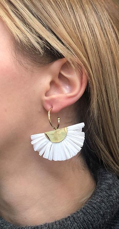 Boucles d'oreilles Louise blanches
