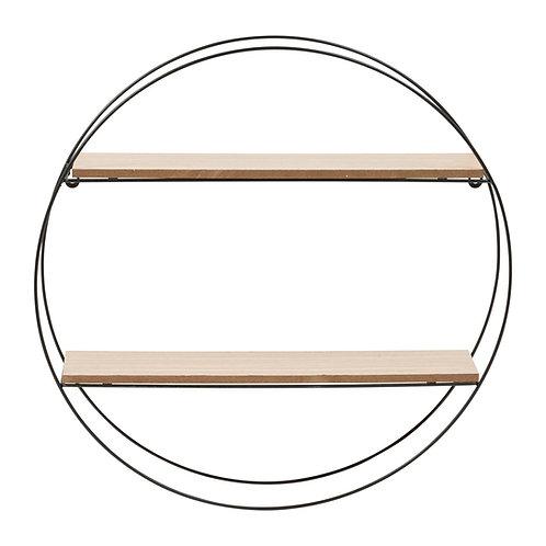 Etagère ronde bois